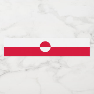 Rótulo Para Garrafa De Vinho Bandeira de Greenland