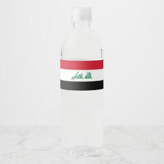 Rótulo Para Garrafa De Vinho Bandeira de Iraque