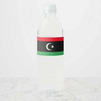 Rótulo Para Garrafa De Vinho Bandeira de Líbia