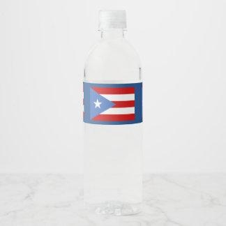 Rótulo Para Garrafa De Vinho Bandeira porto-riquenha