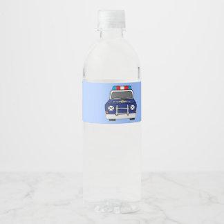 Rótulo Para Garrafa De Vinho Carro-patrulha azul corajoso da polícia