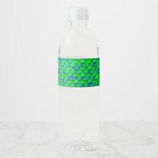 Rótulo Para Garrafa De Vinho Escalas verdes do azul de Falln