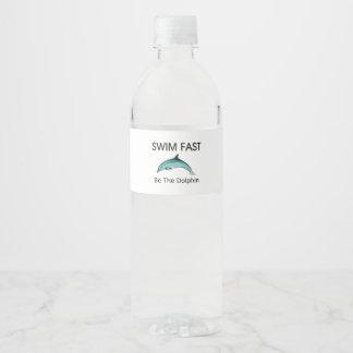 Rótulo Para Garrafa De Vinho O golfinho SUPERIOR da natação jejua