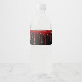 Rótulo Para Garrafa De Vinho O sangue de Falln goteja o preto