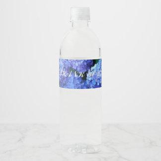 Rótulo Para Garrafa De Vinho Obrigado azul dos Hydrangeas você