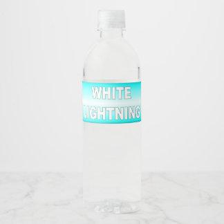 Rótulo Para Garrafa De Vinho Relâmpago branco