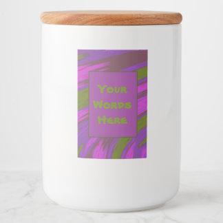 Rótulos Para Comida Abstrato roxo da abanada da cor verde