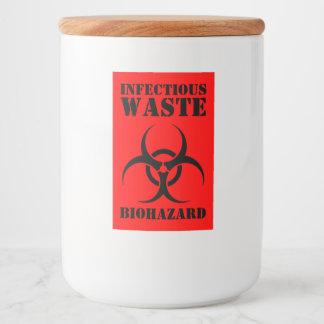 Rótulos Para Comida Biohazard Waste infeccioso engraçado o Dia das