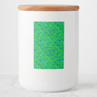 Rótulos Para Comida Escalas verdes do azul de Falln