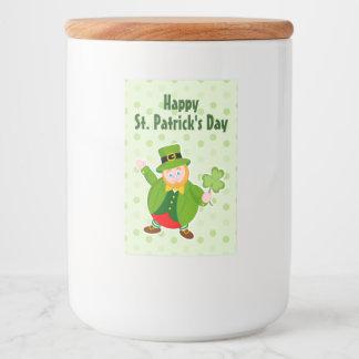 Rótulos Para Comida Leprechaun do dia de um St Patrick que guardara um