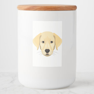 Rótulos Para Comida Ouro Retriver do filhote de cachorro da ilustração