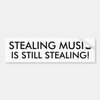 Roubar a música é ainda roubar! adesivo