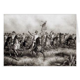 Rough Riders: Coronel Theodore Roosevelt Cartão Comemorativo
