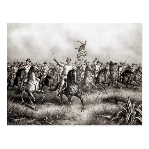 Rough Riders: Coronel Theodore Roosevelt Cartoes Postais