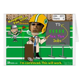 Roughing o eleitor cartão comemorativo
