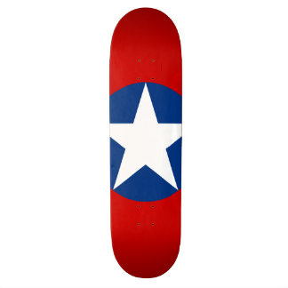 Roundel do Chile Shape De Skate 18,1cm