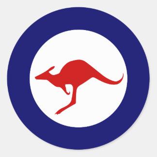 Roundel militar da aviação do canguru de Austrália Adesivos Em Formato Redondos