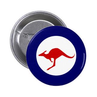 Roundel militar da aviação do canguru de Austrália Bóton Redondo 5.08cm