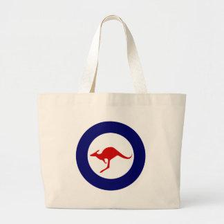 Roundel militar da aviação do canguru de Austrália Sacola Tote Jumbo