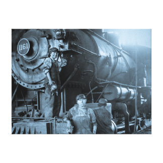 Roundhouse locomotivo Rosies das senhoras da