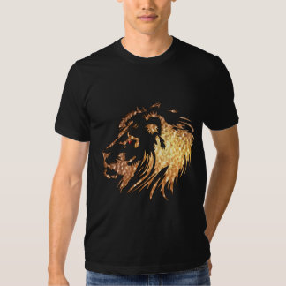 ROUPA africano do motivo do leão Camisetas
