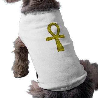 Roupa amarela do animal de estimação de Ankh Camisa Sem Mangas Para Cachorro