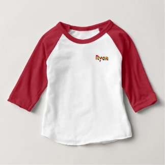 Roupa americano de Ryan 3/4 de t-shirt do Raglan Camiseta Para Bebê