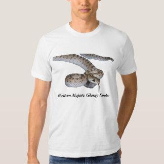 Roupa americano ocidental T do cobra lustroso do T-shirts