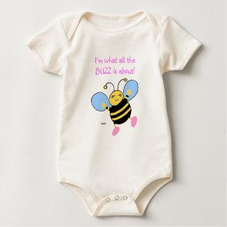 Roupa bonito dos bebés da abelha body para bebê