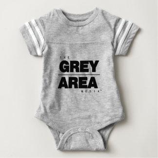Roupa branco preto da área cinzenta body para bebê