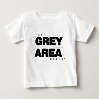 Roupa branco preto da área cinzenta camiseta para bebê