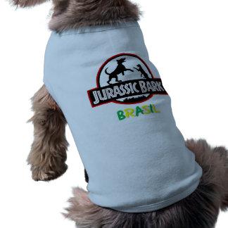 Roupa Canina Jurassic Bark Brasil Camisa Sem Mangas Para Cachorro