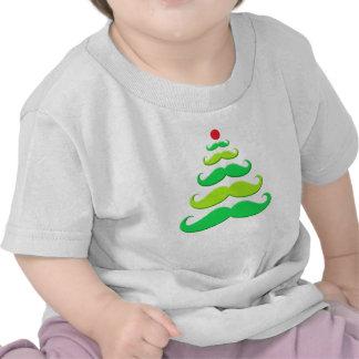 Roupa da árvore de Natal do bigode Tshirts