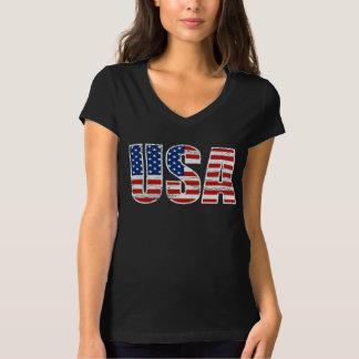 Roupa da bandeira dos EUA do vintage Camiseta