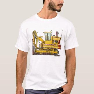 Roupa da construção da máquina da telha camiseta