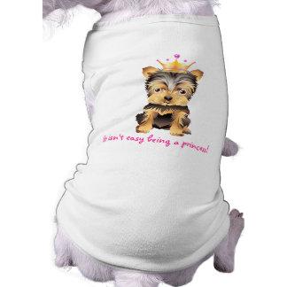 Roupa da princesa Animal de estimação do cão do Camisa Sem Mangas Para Cachorro