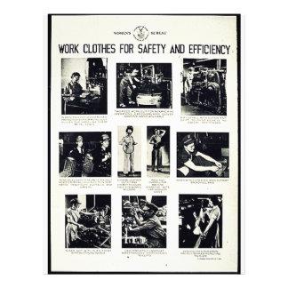 Roupa de trabalho para a segurança e a eficiência panfletos personalizado