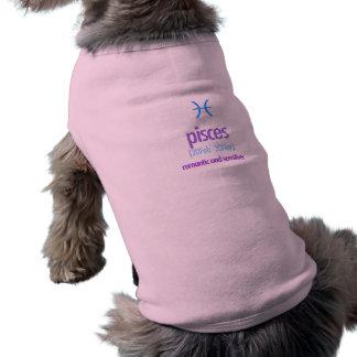 Roupa do animal de estimação camisa sem mangas para cachorro