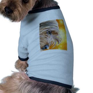 Roupa do animal de estimação do yorkshire terrier camisa ringer para cachorro
