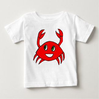 Roupa do bebê - camisa feliz do caranguejo