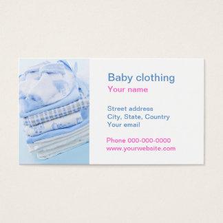 Roupa do bebê cartão de visitas