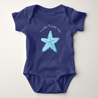 Roupa do bebê da praia náutica body para bebê