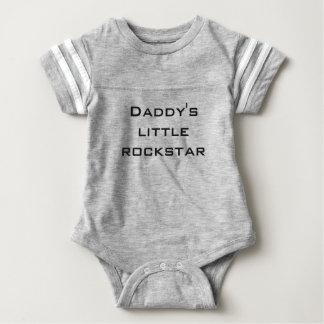Roupa do bebê do rockstar- do pai pouca body para bebê