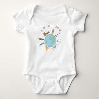 Roupa do bebê do viagem oh os lugares eu irei body para bebê