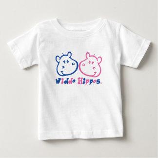 Roupa do bebê dos hipopótamos de Widdo Camiseta Para Bebê