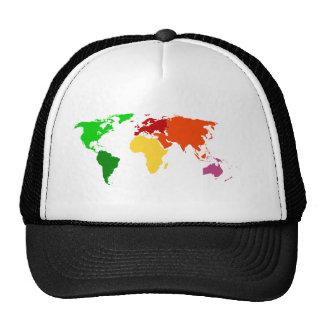 Roupa do esboço do mapa do mundo da Multi-Cor Boné