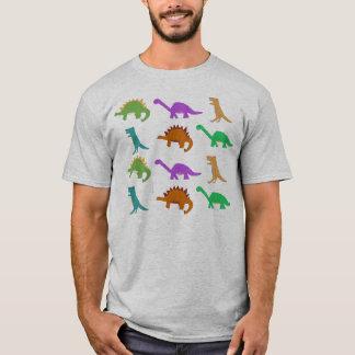 Roupa do teste padrão do dinossauro camiseta
