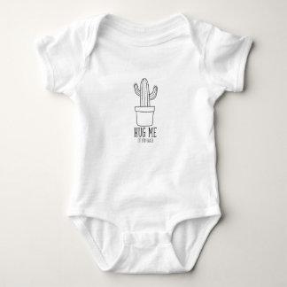 Roupa engraçada do bebê das citações do cacto body para bebê