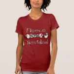 Roupa engraçado do Natal de Navidad do velo T-shirts