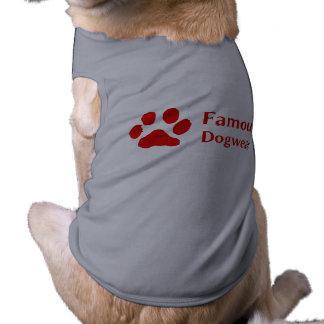Roupa famoso do cão de Dogwear Camisa Sem Mangas Para Cachorro